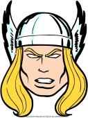 Masque de Thor à découper