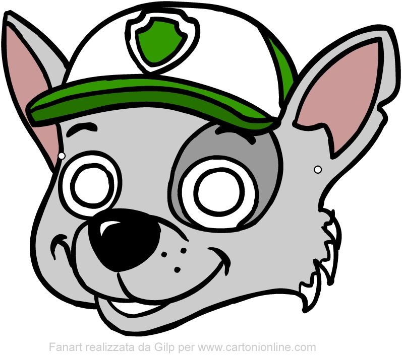 Rocky mask (Paw Patrol) to be cut out