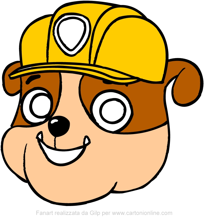 Rubble mask (Paw Patrol) to be cut out