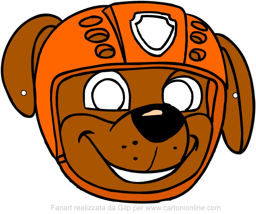 Zuma mask (Paw Patrol) to be cut out