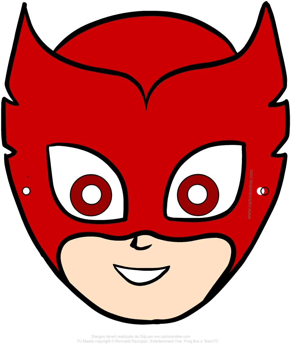 Owlette mask (PJ Masks - the Super Pajamas) to be cut out