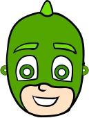 Masque de gecko à découper