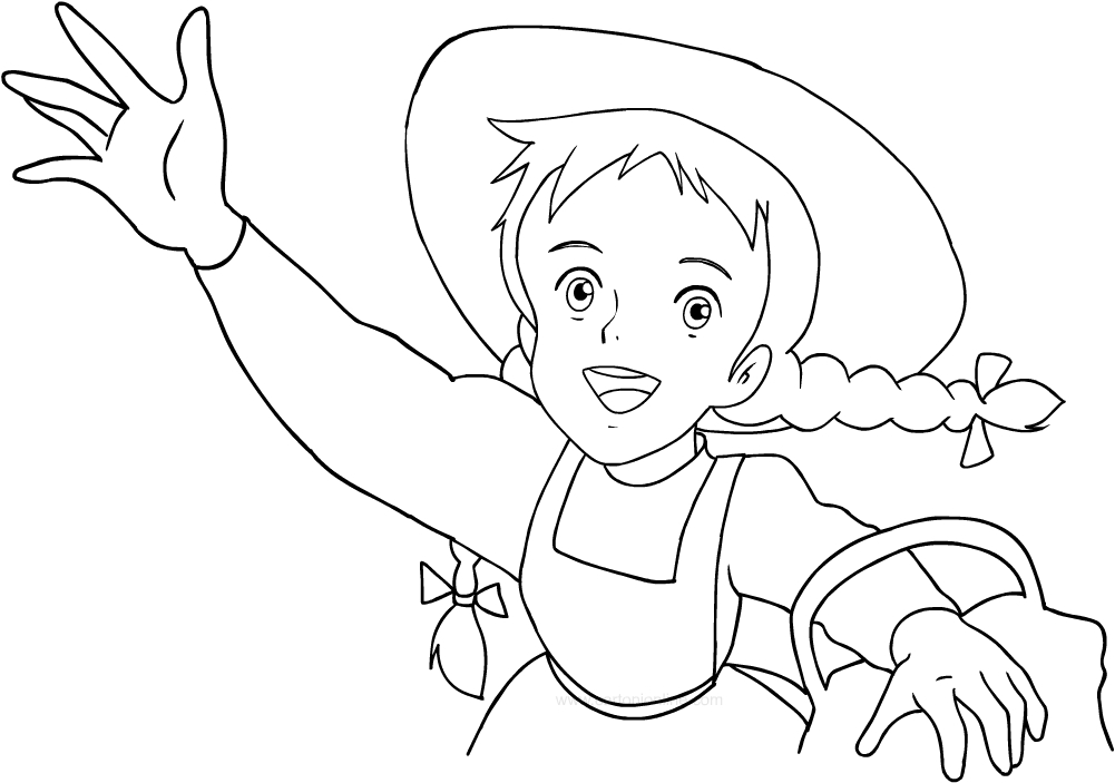 Drawing Anne of Green Gables coloring page