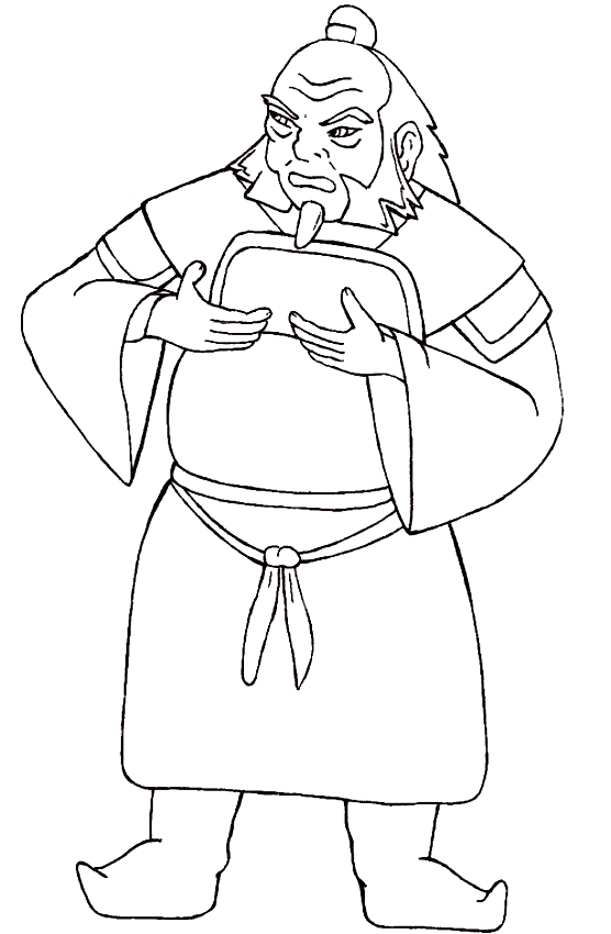 Drawing Of Irohc From Avatar The Last Airbender Coloring Page