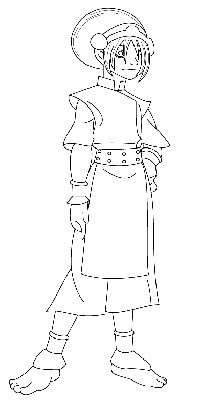 Drawing Of Toph From Avatar The Last Airbender Coloring Page
