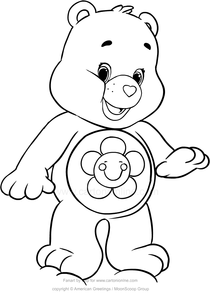 Care Bears #57 (Cartoons) – Printable coloring pages | 984x705