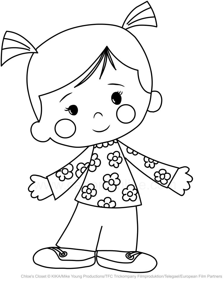 Drawing Chloe Corbin Chloe S Closet Coloring Page