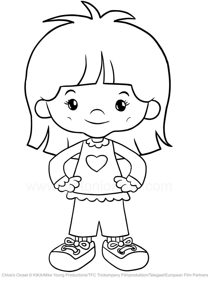 Drawing Danny Rylant Chloe S Closet Coloring Page