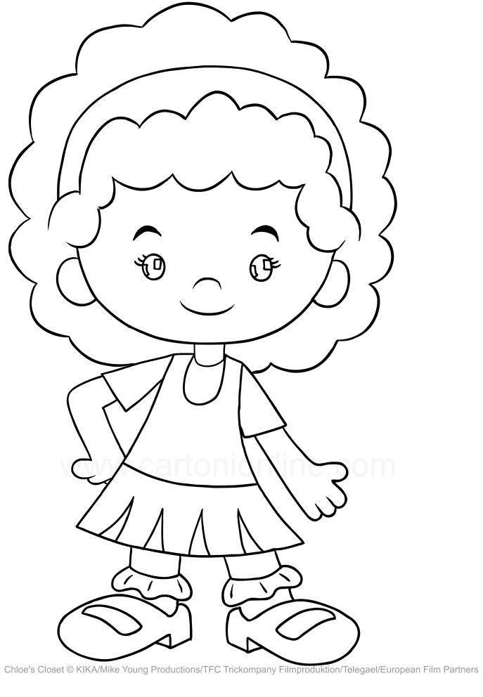 Drawing Tara Jansen Chloe S Closet Coloring Page