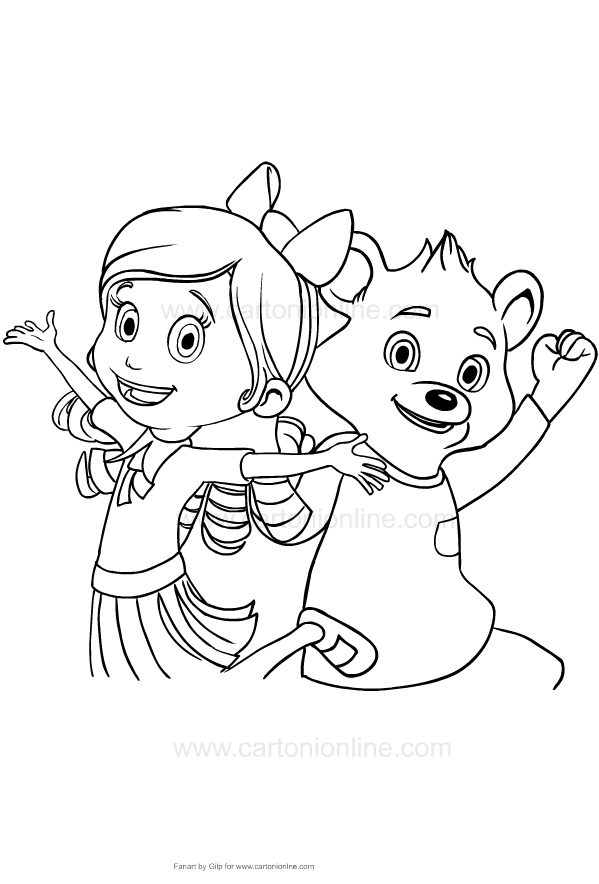 Drawing Of Goldie And Bear Coloring Page