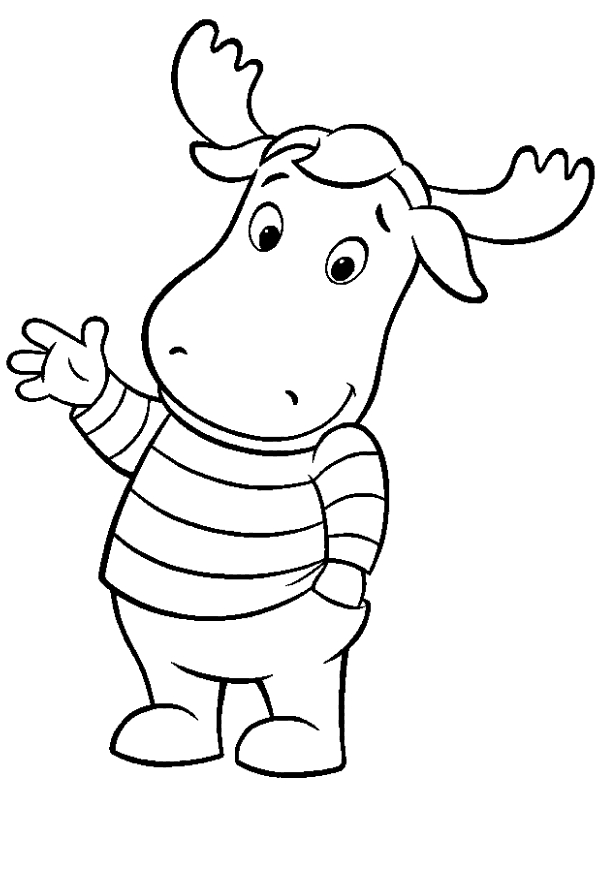 Drawing of Tyrone the elk of the Backyardigans coloring page