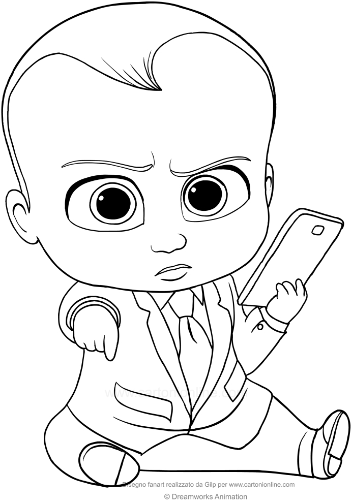 Boss Baby Coloring Pages 55