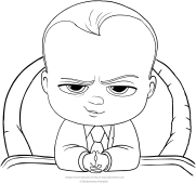 black boss baby coloring pages   Coloring page