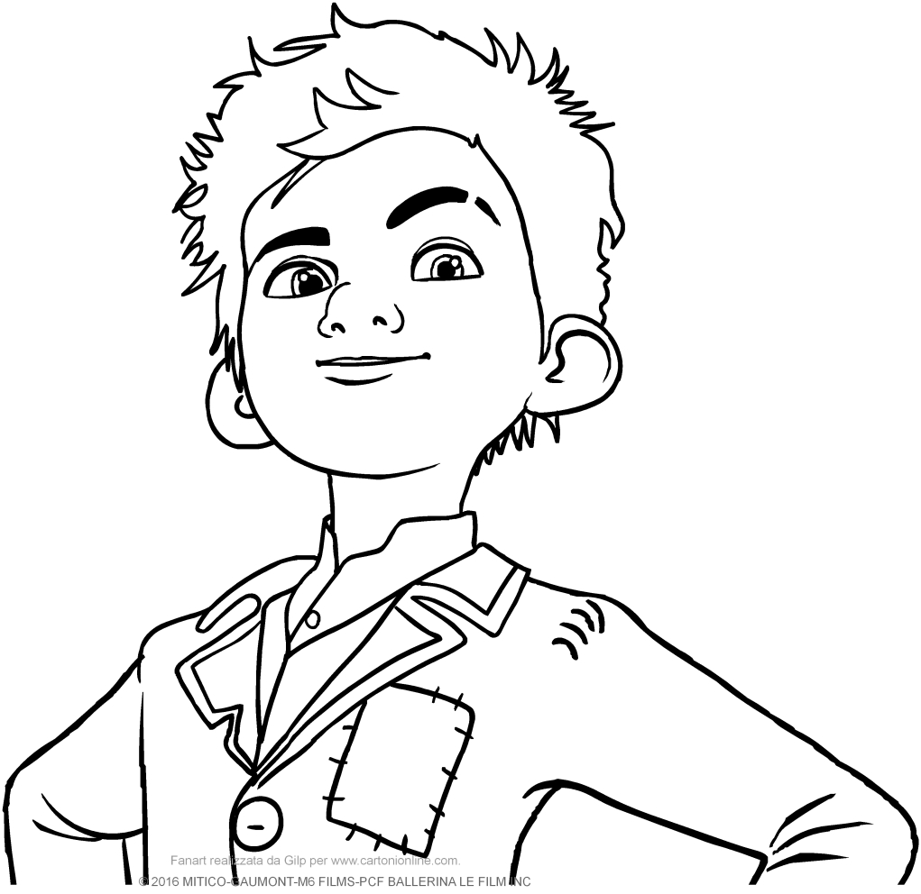 victor in the foreground ballerina the movie coloring pages
