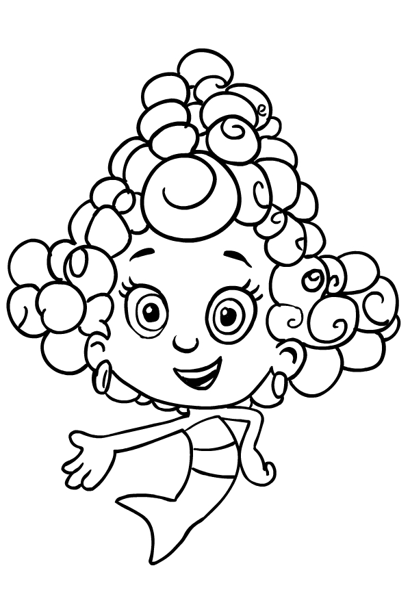 Drawing Of Deema From The Bubble Guppies Coloring Page