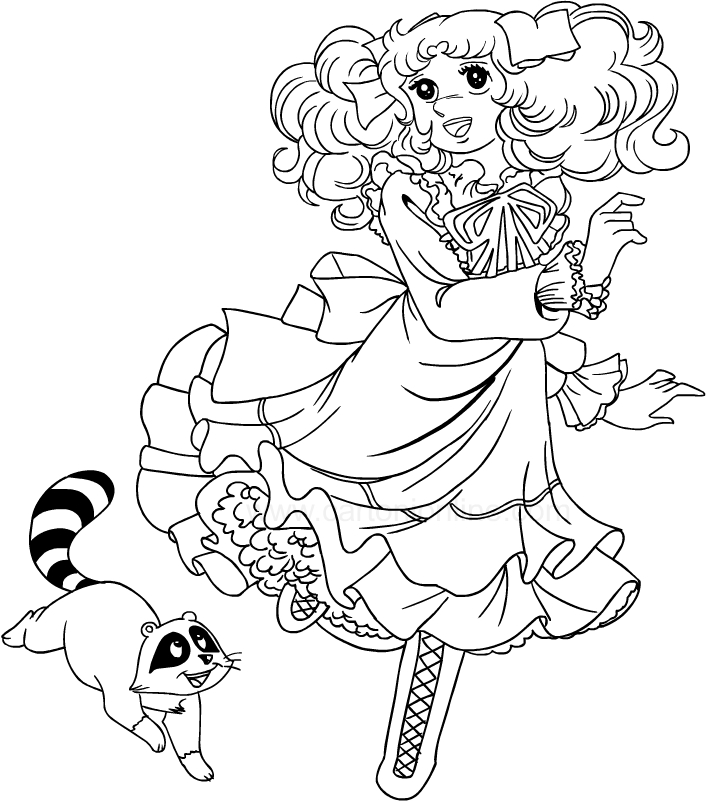 Drawing Candy Candy Coloring Page