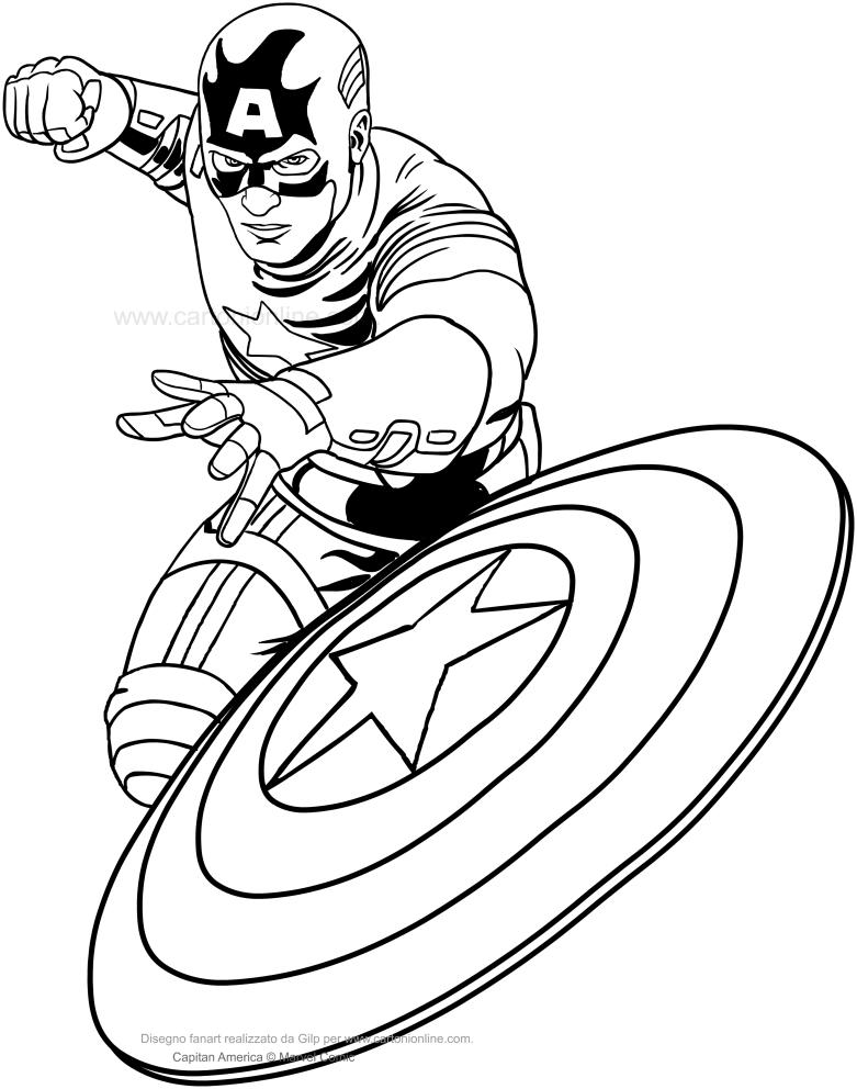 captain marvel coloriage