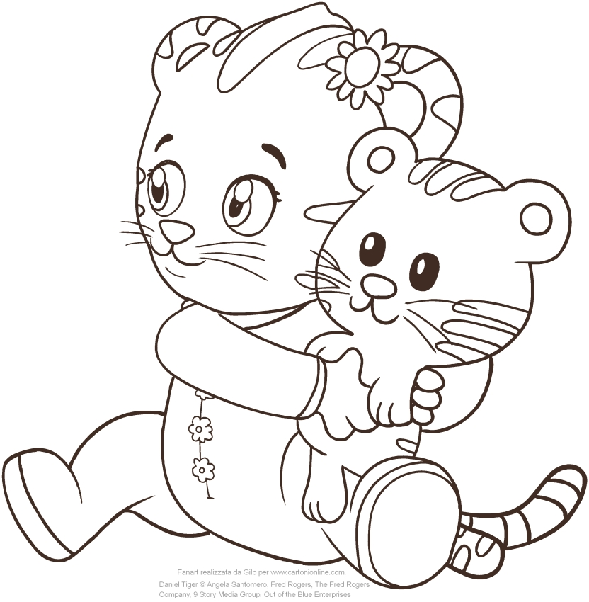 Baby Margaret the sister of Daniel Tiger coloring pages