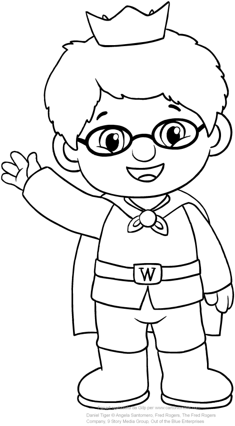 prince wednesday the friend of daniel tiger coloring page - Daniel Tiger Coloring Pages