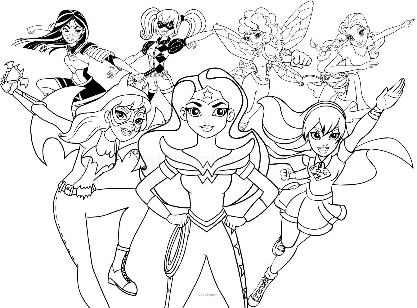 dc superhero coloring pages DC Superhero Girls coloring page dc superhero coloring pages