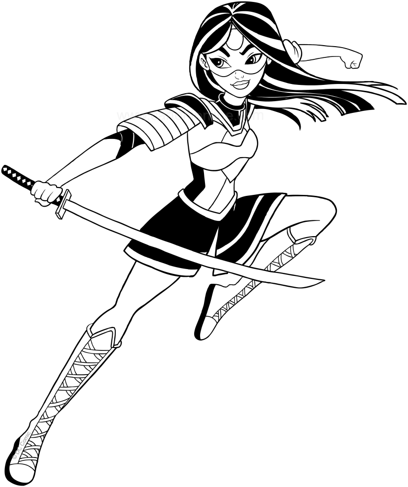 Dc Superhero Katana Coloring Pages Coloring Pages