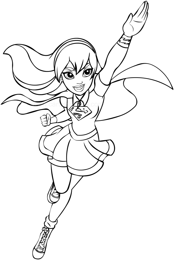 Supergirl (DC Superhero Girls) coloring page