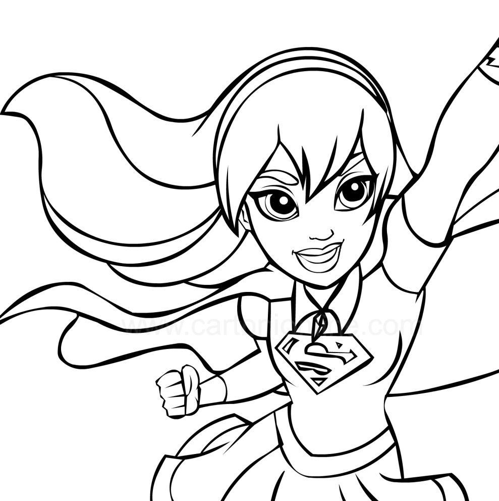Batgirl And Supergirl Coloring Pages Supergirl Coloring Page