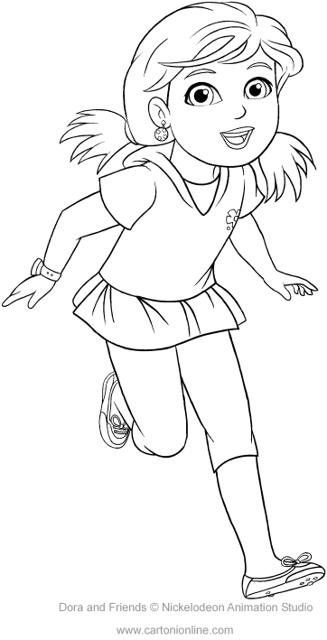 Alana Of Dora And Friends Coloring Page To Print