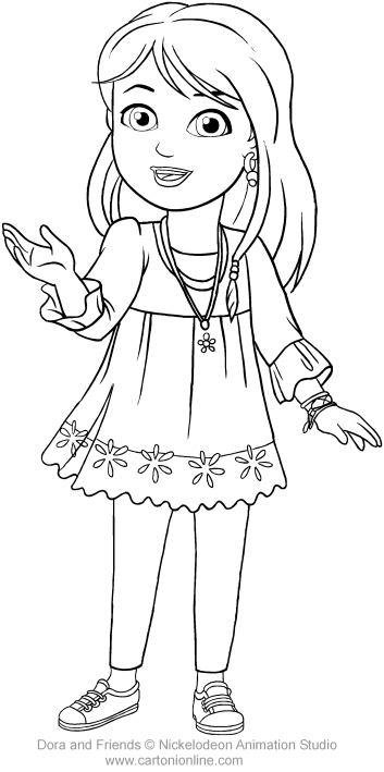 Kate Of Dora And Friends Coloring Page To Print