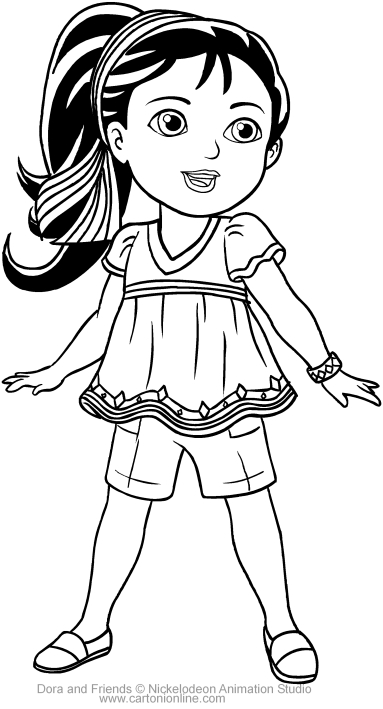 Naiya Of Dora And Friends Coloring Page To Print