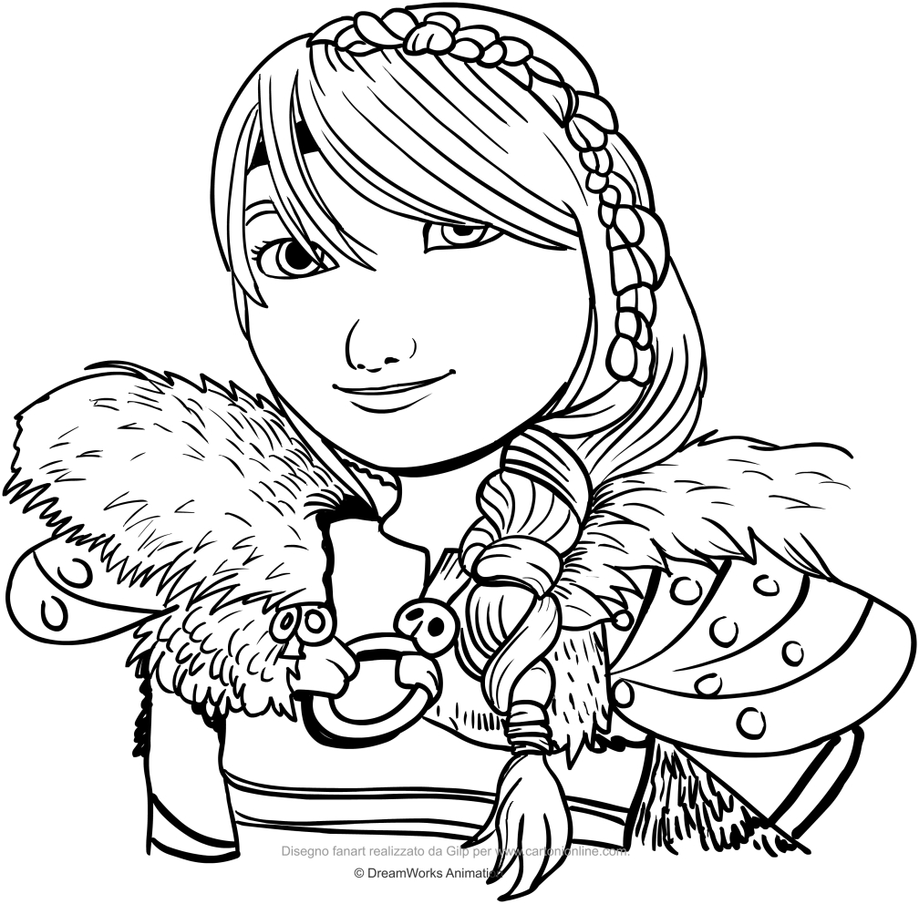 Drawing Astrid (the face) coloring page