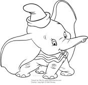 Walt Disney Da Colorare.The Story Of Dumbo 1941
