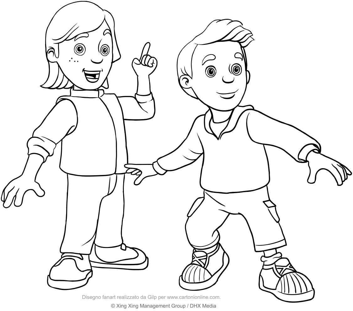 Fireman Sam is hero cartoon coloring pages for kids, printable free | 992x1126