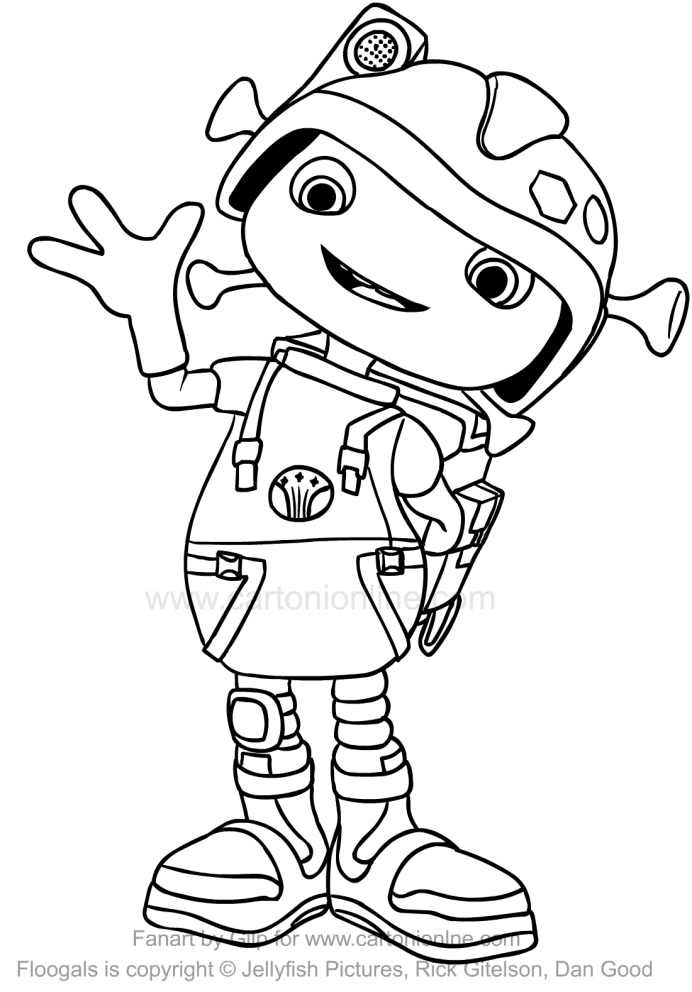 Drawing Boomer Floogals Coloring Page