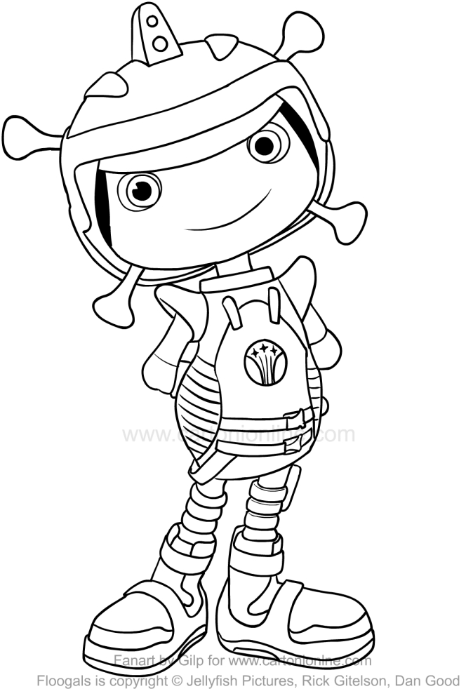It is an image of Crush floogals coloring pages