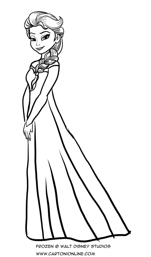 Elsas Dress Coloring Page