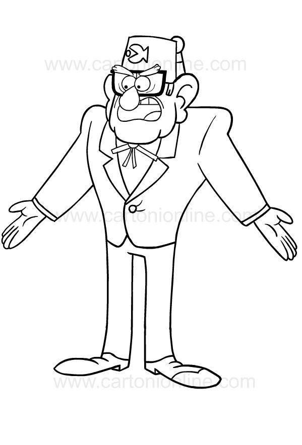 - Drawing Of Stan Pines Di Gravity Falls Coloring Page