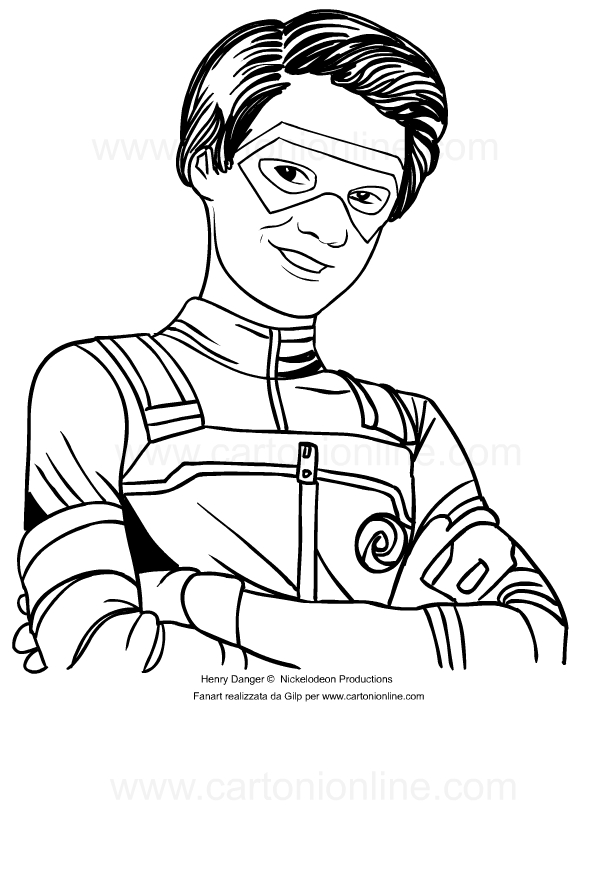 henry danger coloring pages Drawing of Henry Hart di Henry Danger coloring page henry danger coloring pages