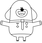 Hey Duggee Tag Coloring Pages