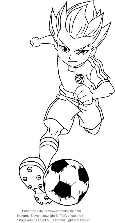 Drawing axel blaze from inazuma eleven coloring page for Immagini di blaze