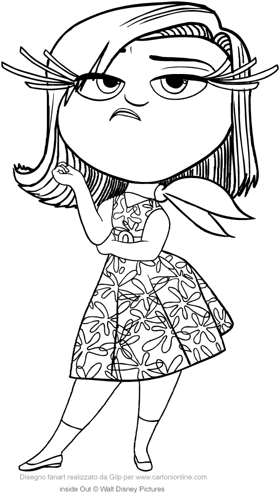 Disgust Inside Out Coloring Pages