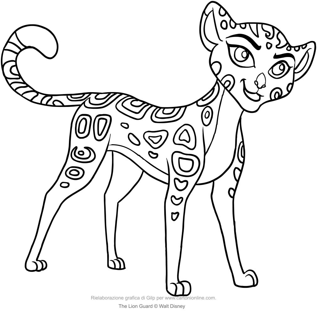 Fuli The Lion Guard coloring page