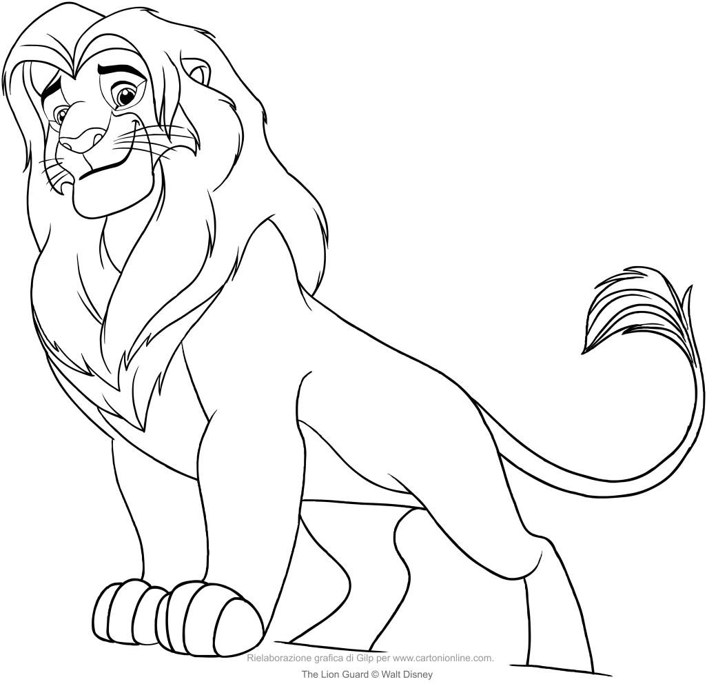simba the lion guard coloring page