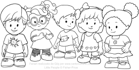 fisher price little people coloring pages   Disegni of Little People coloring pages