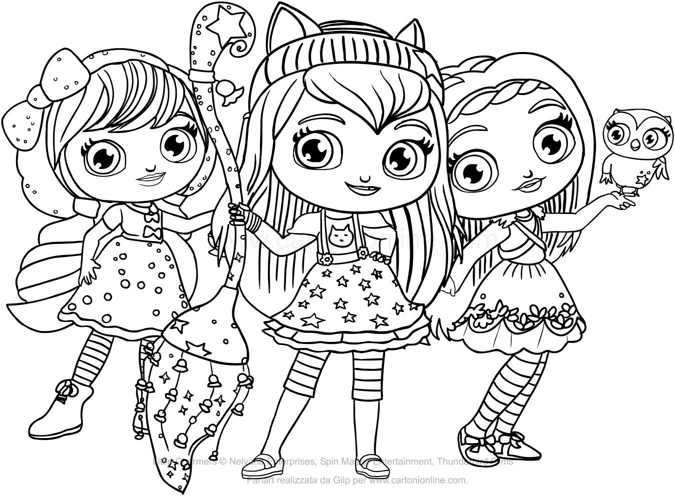 little charmers coloring pages printable - photo#11