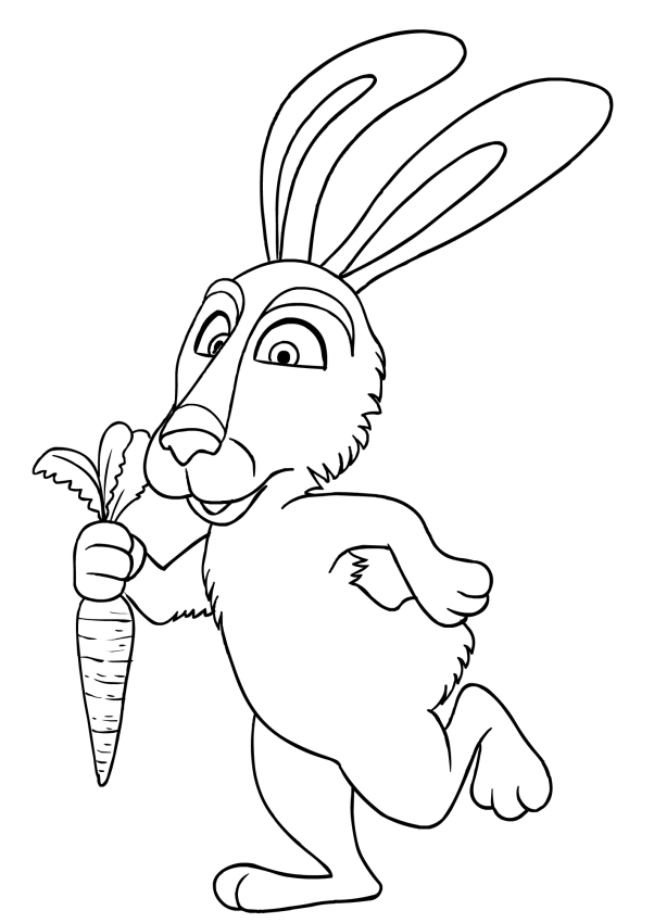 masha and rabbit coloring page printable - Rabbit Coloring Page