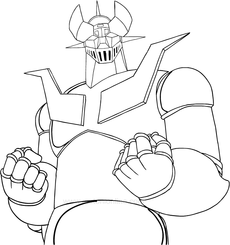 Drawing Mazinger Z coloring page