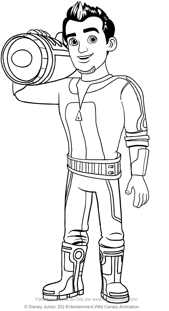 Leo Callisto (Miles from Tomorrowland) coloring pages