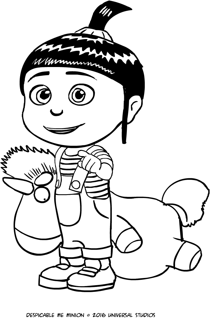agnes of despicable me coloring page