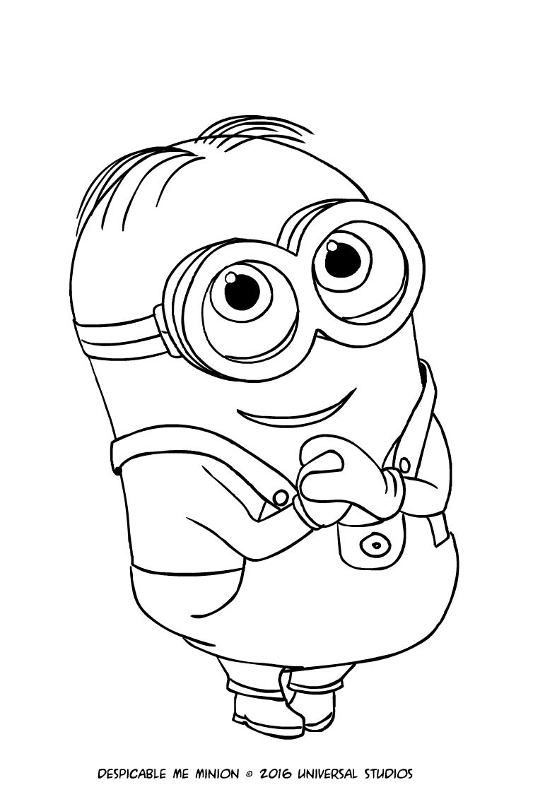 Minion Dave Coloring Page Printable